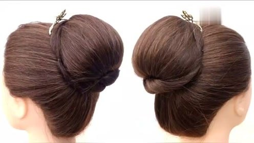 天热扎丸子头很土?试试这款发型,简单又显气质