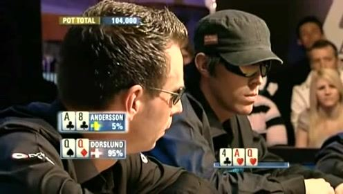 """德州扑克:这就是命!""""三条""""说来就来了,AA瞬间傻眼了"""