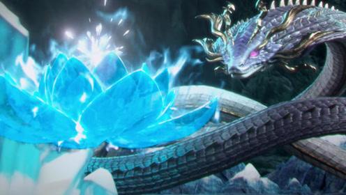 《斗破苍穹》女王吞噬异火失败,萧炎趁机夺异火,获女王小蛇!