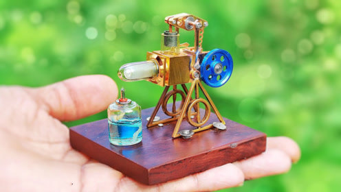 世界最小发动机!利用斯特林发动机原理,一般人真看不懂