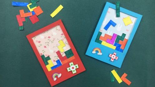 手工制作的游戏机,还可以玩俄罗斯方块,动手就能做出来