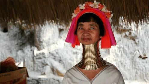 """世界以""""长脖""""为美地方,女性从小戴沉重铜圈,摘下后脖子会断裂"""