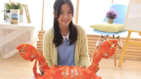 超可爱的大闸蟹抱枕,竟然有一点点想要?