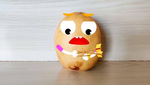 搞笑土豆:太逗了!土豆幸灾乐祸,结局有点惨啊!