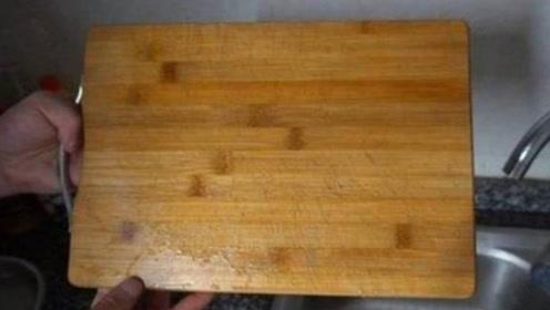 不管多脏多难闻的菜板,只需撒一把它,不用洗洁精,立马焕然一新