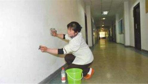 白墙脏了不要用水刷了,一个小妙招就能擦干净,白墙立马焕然一新