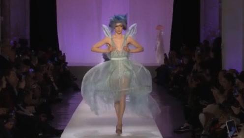 """如梦如幻的纱裙,引入灵魂的设计,模特穿上后犹如""""精灵""""!"""