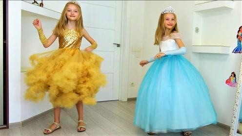 妈妈和小萝莉参加公主聚会,用魔法棒变身,母女俩太惊艳了!