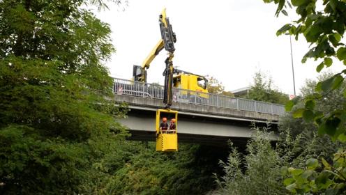 可长可短,最高臂长30米的桥梁工作车,掏鸟窝都是小意思