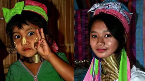 直击云南长颈族,女孩5岁开始带圈,以颈圈数量比美!