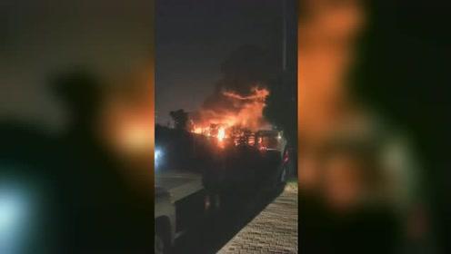 硅油储罐起火!浙江衢州一有机硅企业突发大火,火势烧红半边天