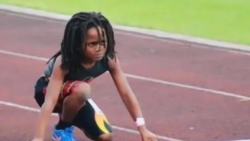 地球最快小孩子在美国刷屏,7岁百米13秒48!全程高能别眨眼