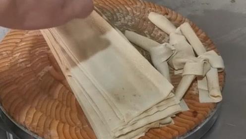 原来板面的豆皮是这样做的,怪不得那么好吃!
