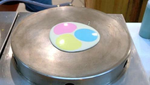 煎饼还有彩色的?谁发明的,真是个人才啊