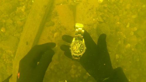 """男子坚持10年海底寻宝,终于挖到""""宝藏"""",收获意外的惊喜!"""