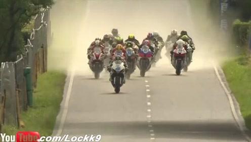 顶级赛级的摩托车比赛,都快上天了
