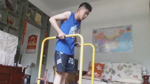 14岁男孩耐力,超同龄99.9%人,4分钟100次标准臂屈伸