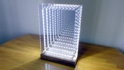 老外自制超牛LED镜子,视觉效果让人震撼,科技感爆棚!