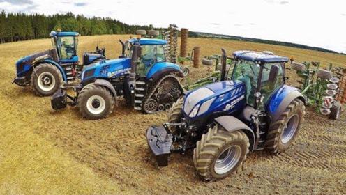 比豪车还贵的拖拉机耕地,还一次用2台,国外农场主太有钱啦