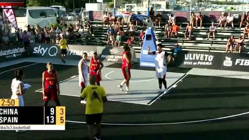 街头篮球大赛,中国队连斩大鲨鱼科比,观众看完尖叫不敢相信