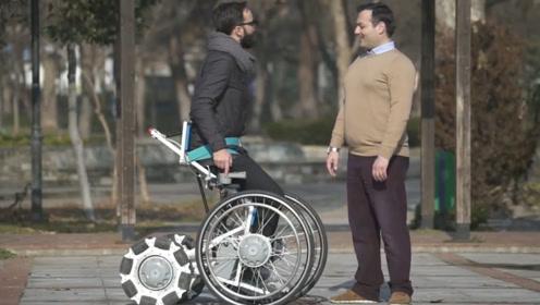"""最智能的电动轮椅,能像正常人一样""""站""""起来,上下阶梯都很轻松"""