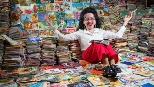 国外女子奇怪癖好,一个房间收藏8万种餐巾纸,破世界纪录