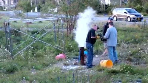 男子将500斤干冰倒入井中,接下来发生的一幕,让他慌忙逃离