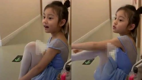 网友晒甜馨学舞蹈视频 五官酷似贾乃亮四肢修长