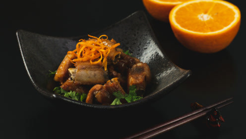 香脆酸甜的香橙排骨,充满活力的创意新组合!