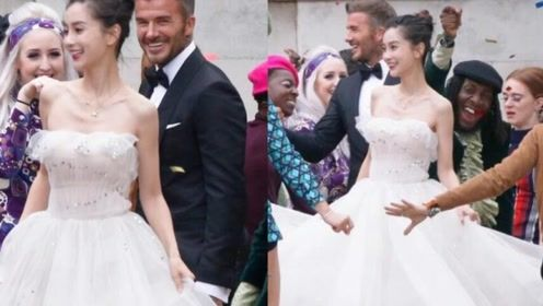 """小贝和Angelababy""""结婚""""了!拍广告扮新婚夫妇"""