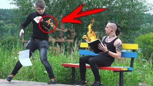 老外街头恶作剧,突然冒火的书路人会给出啥反应?网友:笑到喷饭