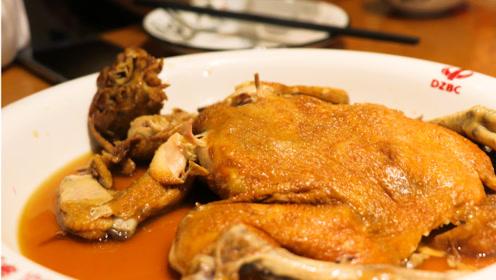 """试吃德州美食扒鸡,50元一只,五香脱骨号称""""天下第一鸡"""""""