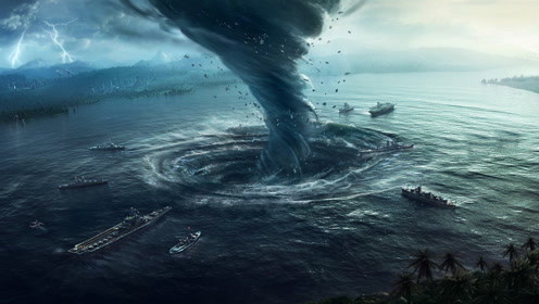 超恐怖自然景观!海面惊现巨型水龙卷,想逃都来不及