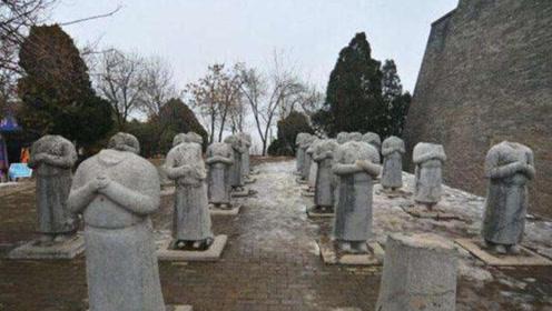 """武则天墓前有61个""""守灵人"""",真实身份已确定,为何没有脑袋"""