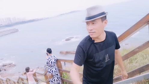 中秋节船长带大家去看青岛的大海,脚滑差点儿变成网红!
