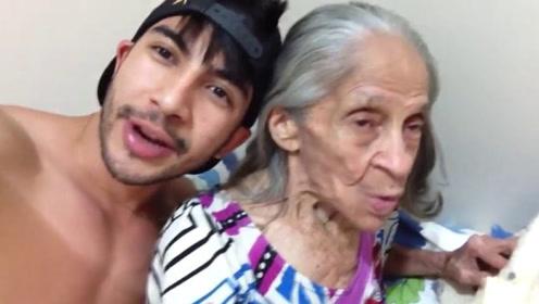 印度小伙一场聚会,竟爱上好友的奶奶,相差61岁如今很相爱!