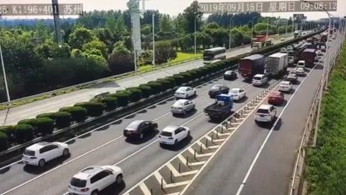 中秋小长假返程日 江苏全省高速缓行路段约10.1公里