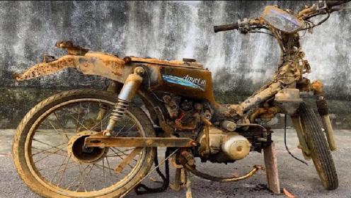 老外收购一台1990年的摩托车,简单翻新一下,网友:赚大了