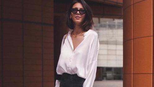 衬衫的百变穿搭造型让你时髦又有范儿时尚感满分