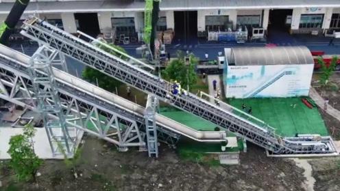 中国最长高铁扶梯下线 海外网友:迫不及待想去试试