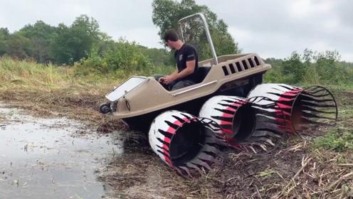 用铁桶自制越野胎,冲向沼泽地那一刻,才是惊喜的开始!