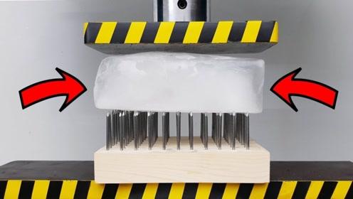 趣味实验:钉床挑战液压机,究竟谁会胜出?结果太意外了!