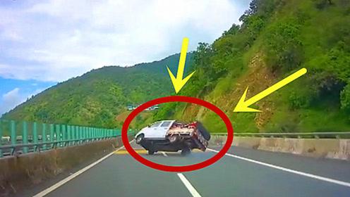司机高速车辆失控左右摇摆,后面行车记录仪录下司机绝望瞬间!