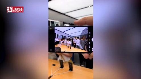 iPhone11正式上市 杭州苹果零售店挤满顾客