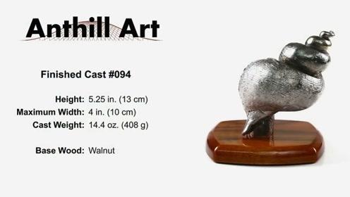 外国小伙创意制作,把铝溶液倒进模具里,做成精美海螺