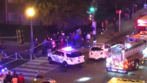 美国华盛顿街头连发2起枪击案 造成1死8伤