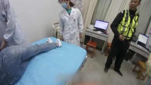 卫校女生逛街突然倒地,交警3分钟送医抱进急诊室
