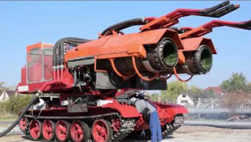 世界第一辆消防车,可46天扑灭油田大火!配置飞机发动机