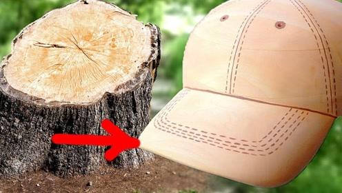老外用木头制作了一顶帽子,像模像样的,网友:不怕压矮了自己吗