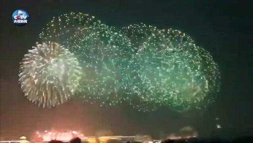 朋友圈昨夜供稿!看,烟火耀京城!